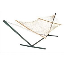Original Cotton Rope Hammock with Stand