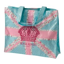 Old Country Roses Pastel Union Jack Plasticised Shopping Bag