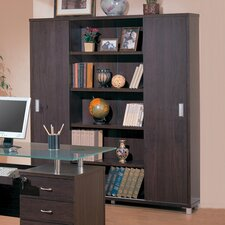 "Covina 64.75"" Bookcase in Cappuccino"