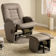 Open Box Price Sheraton Recliner & Ottoman in Beige