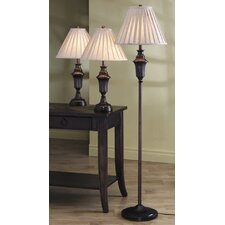 Athens 3 Piece Table Lamp Set
