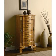 "Washougal Deluxe 37.5"" Jewelry Armoire in Light Oak"
