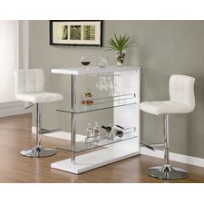 Fairlie Bar Table in White
