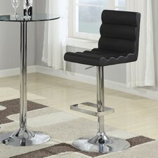 Groom Barstool with Ridged Back in Black