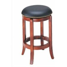 "24"" Swivel Bar Stool with Nailhead Trim"