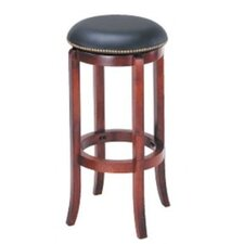 "30"" Swivel Bar Stool with Nailhead Trim"