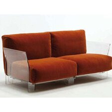 Pop Loveseat with Transparent Leg