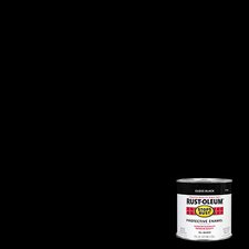 1/2 Pint High Gloss Black Protective Enamel Oil Base Paint 7779 730