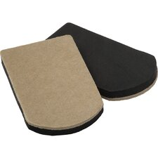 "4 Count 4"" x 7"" Heavy Duty Felt Gard Slider Pad"