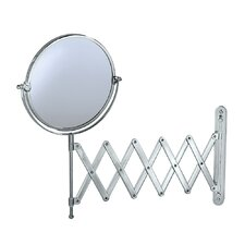 Accordion Wall Mirror in Chrome