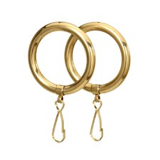 Shower Curtain Rings in Polished Brass (Set of 2)
