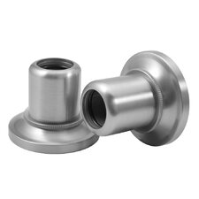 Tiara Wall Flange Pair in Satin Nickel (Set of 2)