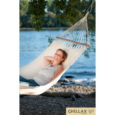 Single Organic Cotton Hammock with Timber Spreader Bar