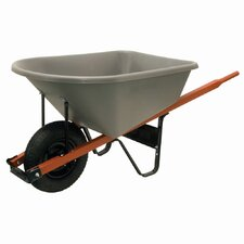 6 Cubic Foot Wheelbarrow with Poly Tray
