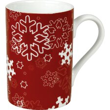 Winter Splendor 10 oz. Snowflakes Mug (Set of 4)