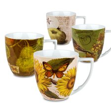 Accents Nature 12 oz. Mug (Set of 4)