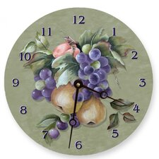 Fruit Round Clock