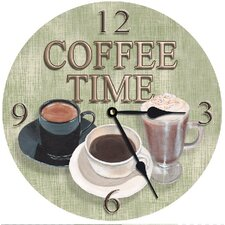 Coffee Time Round Clock