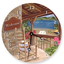 Lake House Round Clock