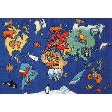 Play Carpet World Animals Kids Rug