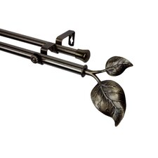 Modern Ivy Double Curtain Rod