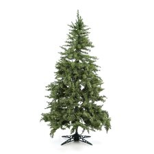 "6' 5"" Green Evergreen Fir Artificial Christmas Tree with 450 Pre-Lit Clear Lights"