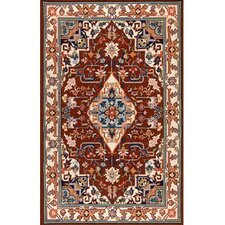 Bucks County Heriz Burgundy/Ivory Rug