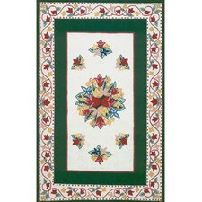 Bucks County Tulip Ivory/Emerald Green Rug