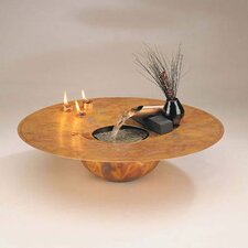 Copper Water and Fire Circular Tabletop Fountain