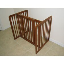 Freestanding All-Wood Pet Gate