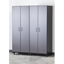 Tuff-Stor 2 Piece Storage System in Charcoal Grey and Textured Black