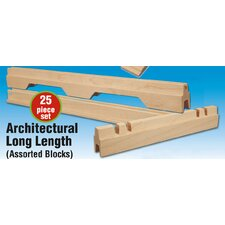 Architectural Long Length Building Set (25 Pieces)