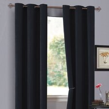 Urban Hotel Chenille Grommet Curtain Single Panel