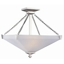Aurora 2 Light Square Bowl Semi Flush Mount