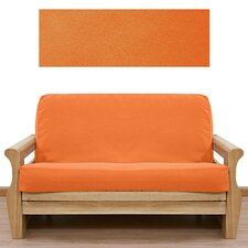 Ultra Suede Pumpkin Orange 5 Piece Full Futon Cover Set
