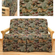 Travel 5 Piece Full Skirted Futon Cover Set