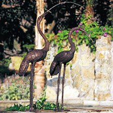Birds Crane Pair Fountain