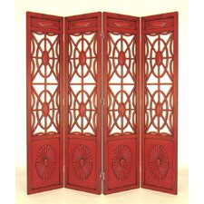 Charleston Room Divider in Red