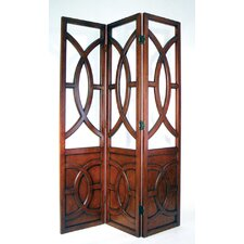 Florence Room Divider in Brown