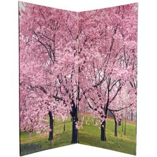 6Feet Tall Double Sided Cherry Blossoms Room Divider