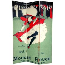 6Feet Tall Double Sided Moulin Rouge Room Divider