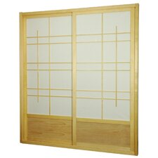 Eudes Shoji Double Sliding Sliding Door Kit in Natural