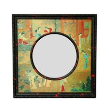 Oriental Village Scene Wall Mirror