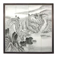 Misty Mountain Silk Room Divider