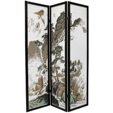 Asian Landscape Decorative Room Divider