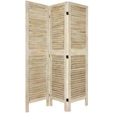 6Feet Tall Classic Venetian Room Divider in Burnt White