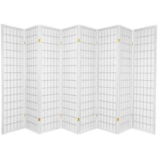 Window Pane Shoji 8 Panel Screen in White