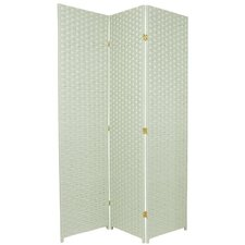Special Edition Woven Fiber 3 Panel Room Divider in Seagrass