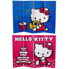Tall Double Sided Hello Kitty Birthday Cake Canvas Room Divider