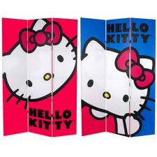 Tall Double Sided Hello Kitty Classic Canvas Room Divider